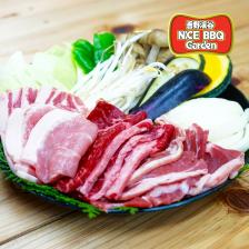 牛・豚・ラムのミックスコース<br /> (野菜付)
